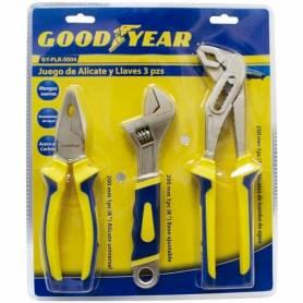 Juego de alicates y llaves de 3 piezas Goodyear GY-PLK-5004