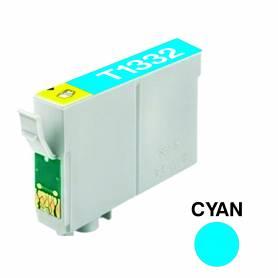 Cartucho para Epson 133 cian alternativo