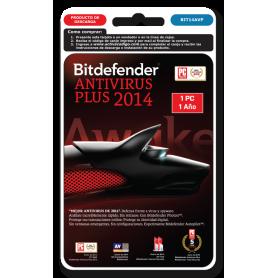 Bitdefender antivirus PLUS 1 PC 1 año BIT14AVP