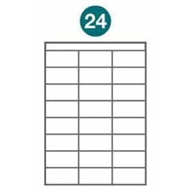 Etiquetas autoadhesivas A4 2012 JETLABEL 70,00 x 36,00 MM