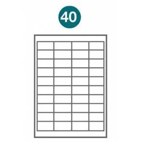 Etiquetas autoadhesivas Carta 1003 JETLABEL 50,80 x 25,40 MM