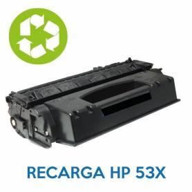 Recarga de toner HP 53X Q7553X