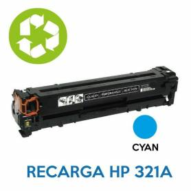 Recarga de toner HP CE321A 128A CYAN