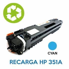 Recarga de toner HP CE351A 130A CYAN