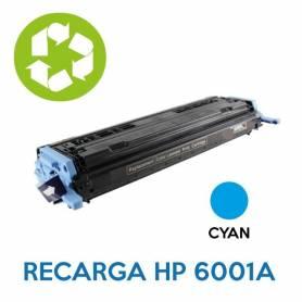Recarga de toner HP Q6001A 124A CYAN