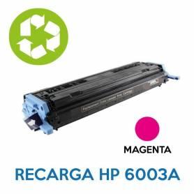 Recarga de toner HP Q6003A 124A MAGENTA
