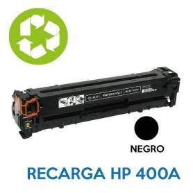 Recarga de toner HP CE400A 507A NEGRO