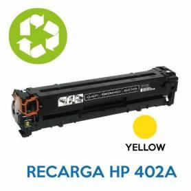 Recarga de toner HP CE402A 507A YELLOW