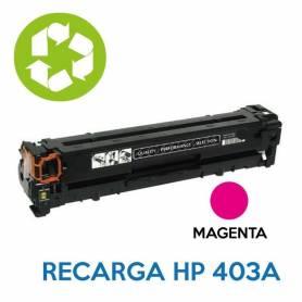 Recarga de toner HP CE403A 507A MAGENTA