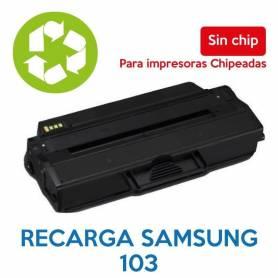 Recarga de toner SAMSUNG 103 sin chip MLT-D103