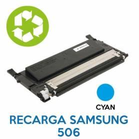 Recarga de toner SAMSUNG 506 CYAN CLT-K506L
