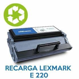 Recarga de toner LEXMARK E220