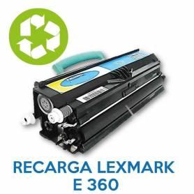 Recarga de toner LEXMARK E360