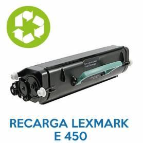 Recarga de toner LEXMARK E450