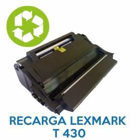 Recarga de toner LEXMARK T430