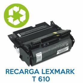 Recarga de toner LEXMARK T610