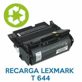 Recarga de toner LEXMARK T644