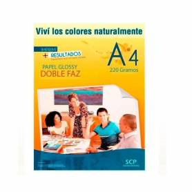 Papel Foto GLOSSY doble faz SCP 220grs.