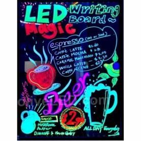 Pizarra LED fluorescente 80 x 60