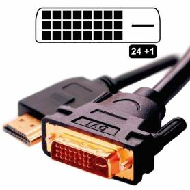Cable DVI a HDMI 1,8 MTS M-M