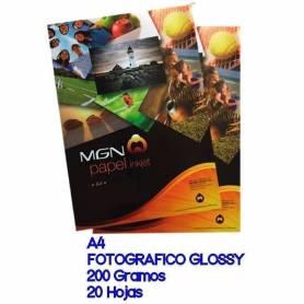 MGN  Papel Foto A4 200g resma 20 Hojas