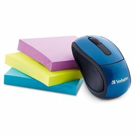 Mouse Optico Inalambrico Verbatim Go Mini 97471 Azul