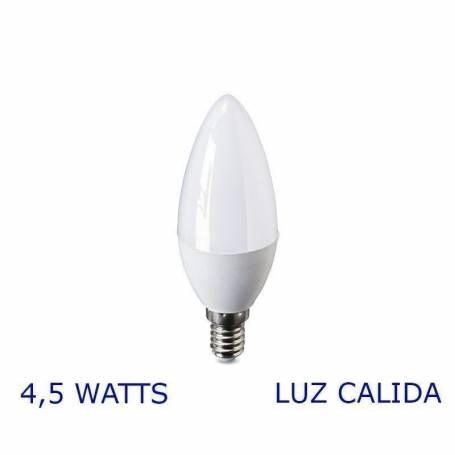 Luz LED VELA E14, 4,5W Calida VERBATIM 99317