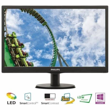 "Monitor Led Philips 18,5"" con SmartControl Lite"