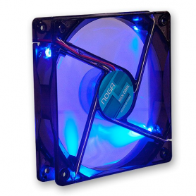 Gaming Cooler 120x120 BLUE LED 4 LED 1200 rpm Noganet