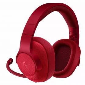 Auriculares Gamer Logitech G433 con cable y sonido 7.1, Rojo