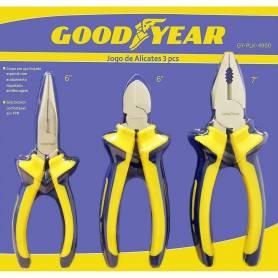 Juego de alicates 3 piezas Goodyear GY-PLK-4900