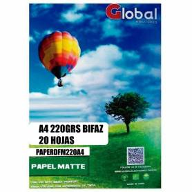 Papel F. Matte A4 doble faz 220g 20H Global electronics