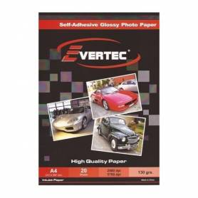 Papel Foto Glossy Autoadhesivo A4 130g 20 hojas EVERTEC