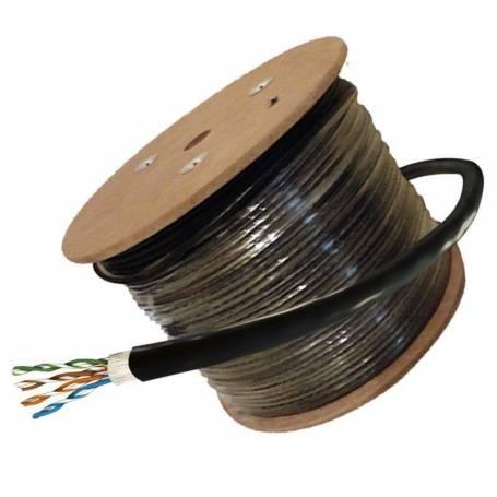 Cable  UTP Categoria 5 EXTERIOR 305mts  4 pares AWG24