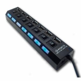 HUB USB 7 PTS 2.0 con fuente