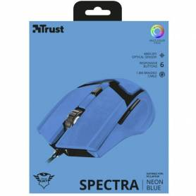 Mouse Gamer GTX SPECTRA NEON BLUE 4800 DPI cable 1.8 mts