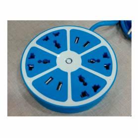 Zapatilla circular USB x 4 PTS + 220V x 4 pts.