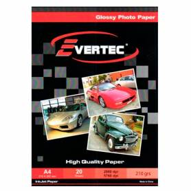 Papel Foto Glossy A4 210g 20 hojas EVERTEC