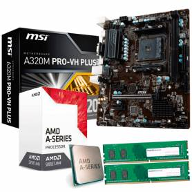Combo AMD A8 9600 + Mother + 4 Gb DDR4
