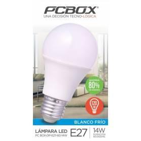 Lámpara LED Pc Box Dp  E27-60-14W FRIA