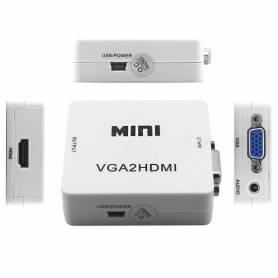 Adaptador de VGA-M A HDMI-H  C/ Audio