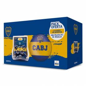 Joystick SORMA Inalámbrico PC/PS2/PS3 Combo Boca Juniors + Pelota N2