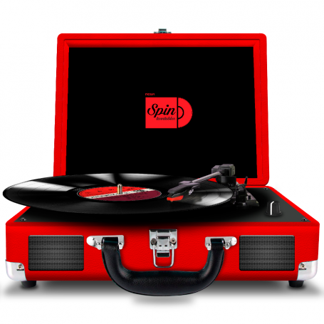 Tocadiscos Noga NG-SPIN08 RCA - USB -TF- AUX IN - BLUETOOTH NEGRO-ROJO
