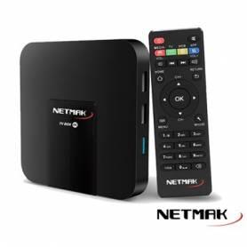 Smarter TV BOX 4K - NETMAK *LIQUIDACION*  RAM 2GB, ROM 16GB, QUAD CORE