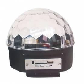 Luz led giratoria Semiesfera con parlante ES-888J