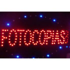 "Cartel LED ""FOTOCOPIA""  48x25"