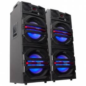 "Parlante columna x 2 Karaoke Noga Inalambrico 24.000w PMPO Doble Boofer 12"" (N3C)"