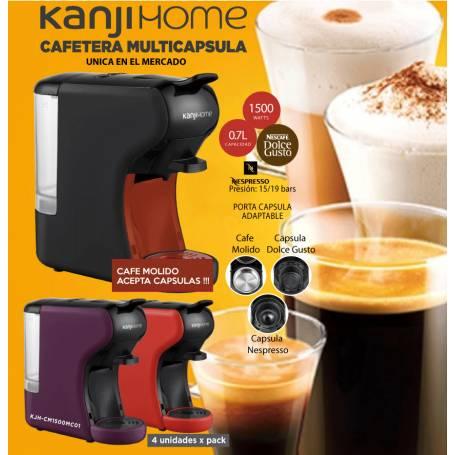 Cafetera MOKA Kanji Expreso para cafe Molido y capsulas Dolce Gusto y Nespreso
