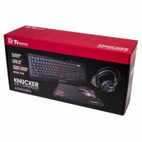 Gaming KIT KNUCKER 4 en 1 Teclado Mouse headset y mouse pad TT