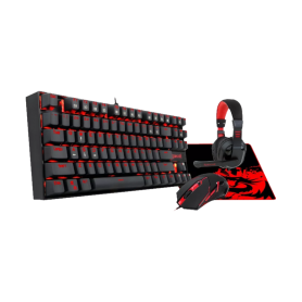 Gaming KIT KNUCKER 4 en 1 Teclado Mouse headset y mouse pad TT